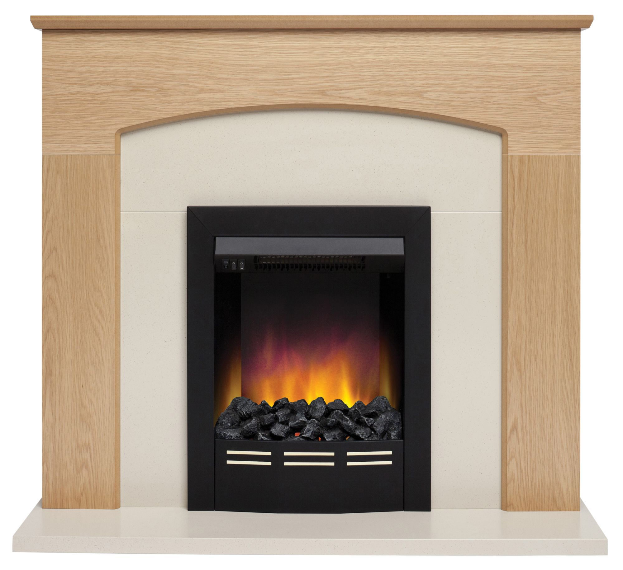 Be Modern Glenmere Black Electric Fire Suite Departments