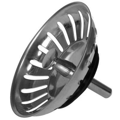 kitchen sink basket strainer vintage accessories stainless steel round replacement waste ...