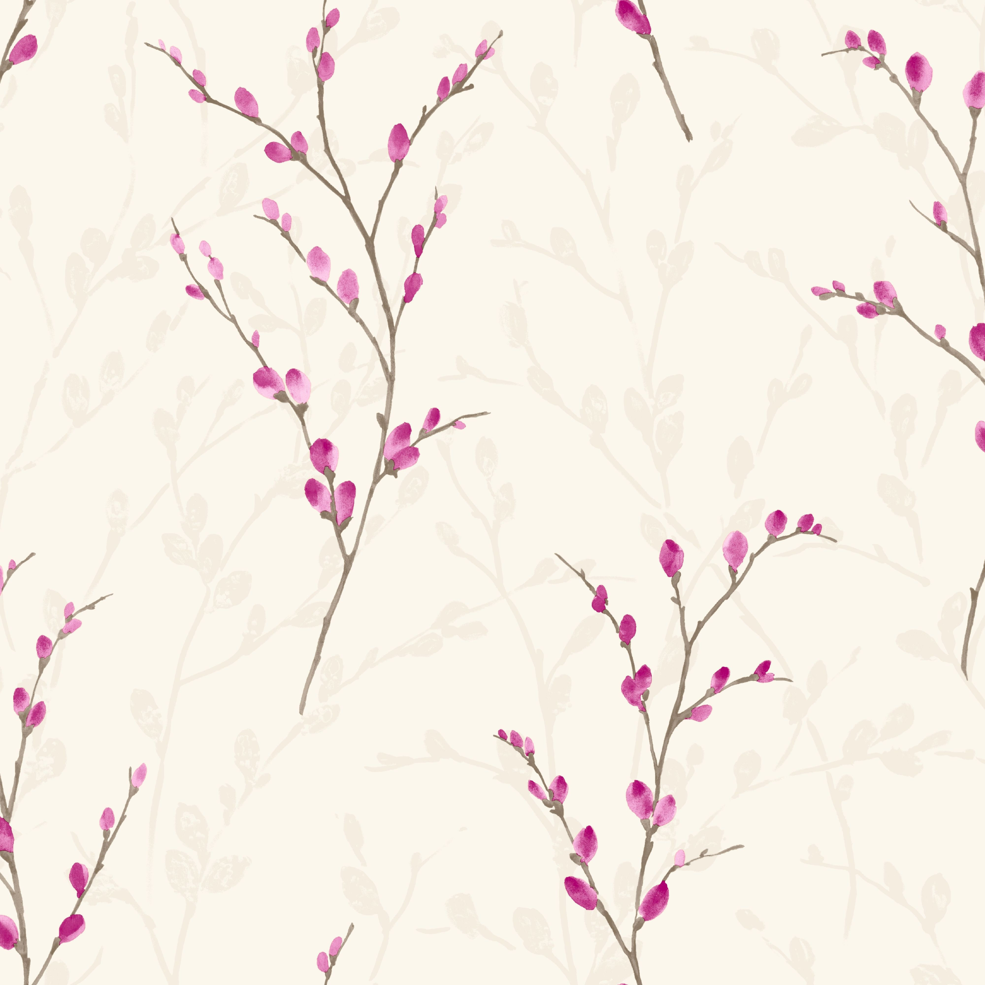 ashley furniture kitchen chairs americana decor arthouse eco willow plum blossom wallpaper | departments ...