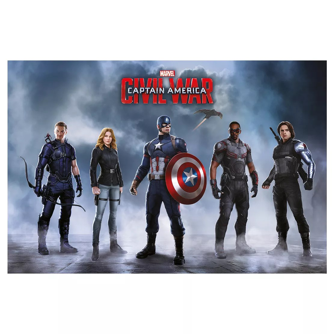 captain america table and chair set cast iron chairs adelaide civil war team multicolour poster w 610mm