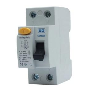 BG 63A Double Pole 230400V 30Ma RCD | Departments | DIY
