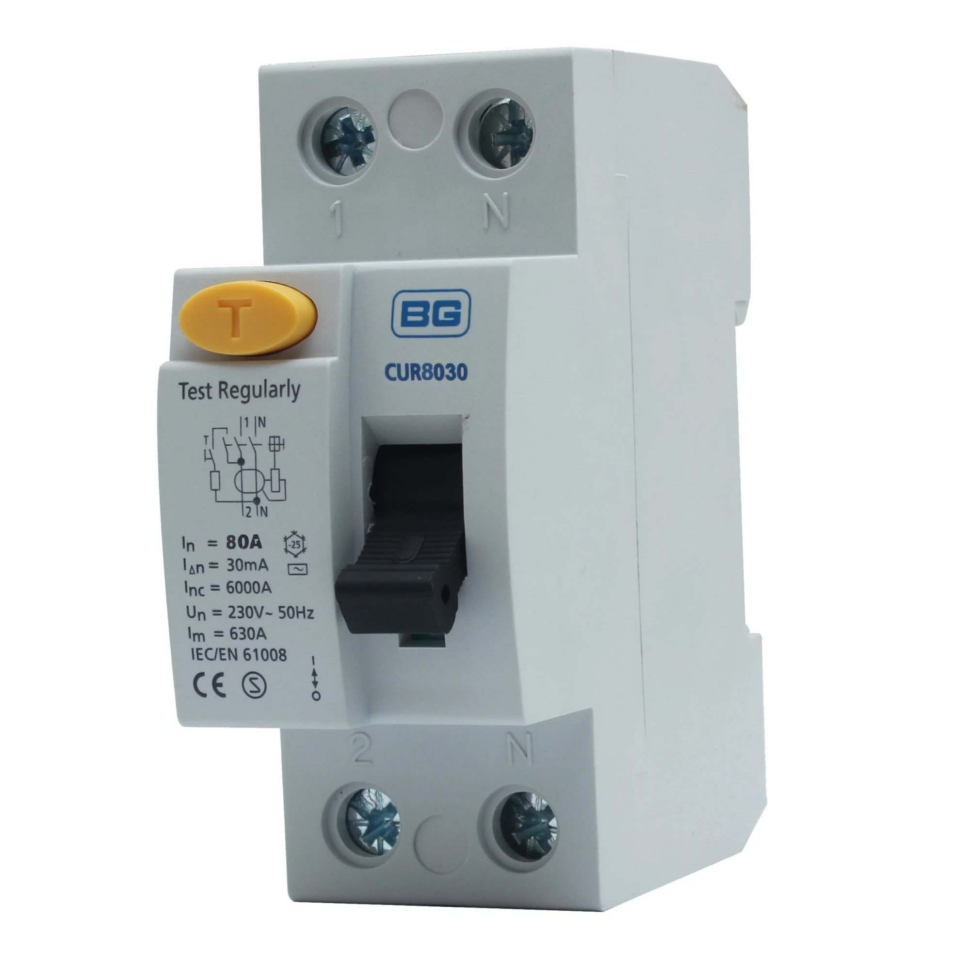 hight resolution of british general 80a double pole 230 400v 30ma rcd departments diy at b q
