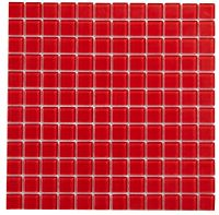 Red Glass Mosaic Tile, (L)300mm (W)300mm | Departments ...