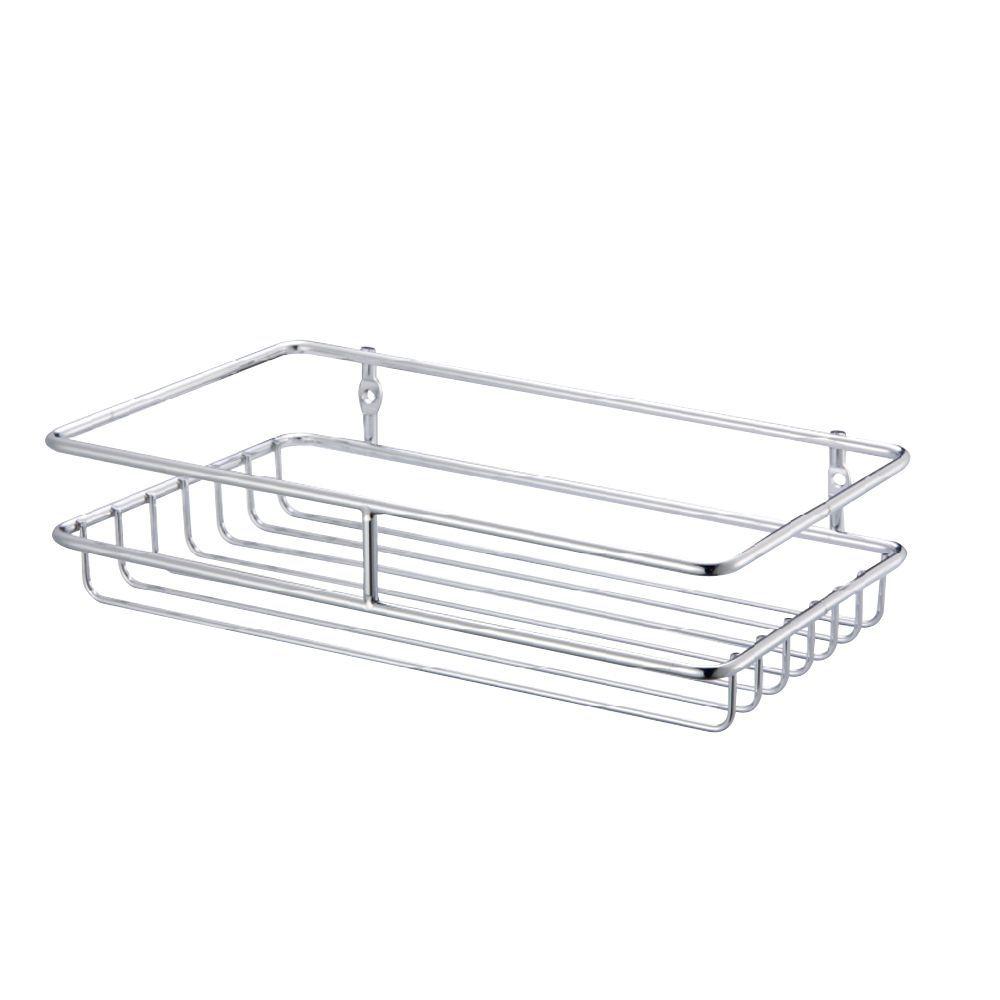 Cooke & Lewis Chrome Effect Steel Wire Storage Basket