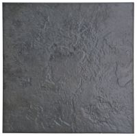 Cirque Black Stone Effect Ceramic Floor Tile, Pack of 9 ...