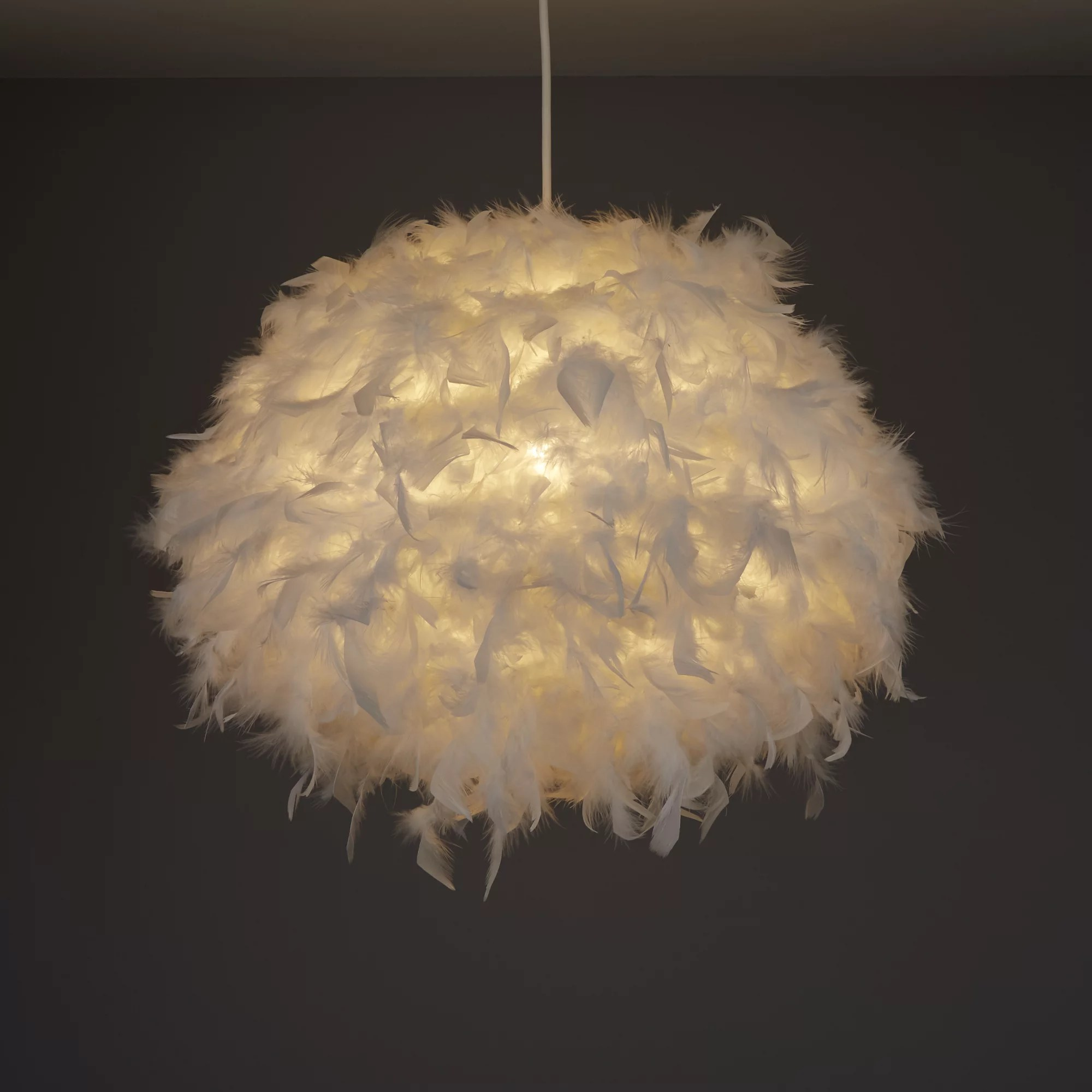 Colours Melito White Feather ball Light shade D400mm