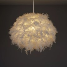 Colours Melito White Feather Ball Light Shade 400mm