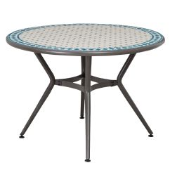 4 Seater Outdoor Table And Chairs Royal Blue Chair Sashes For Sale Silene Metal Round Departments Diy At B Andq