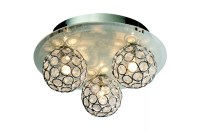 Chameleon Crystal Circle Colour Changing 3 Lamp Ceiling ...