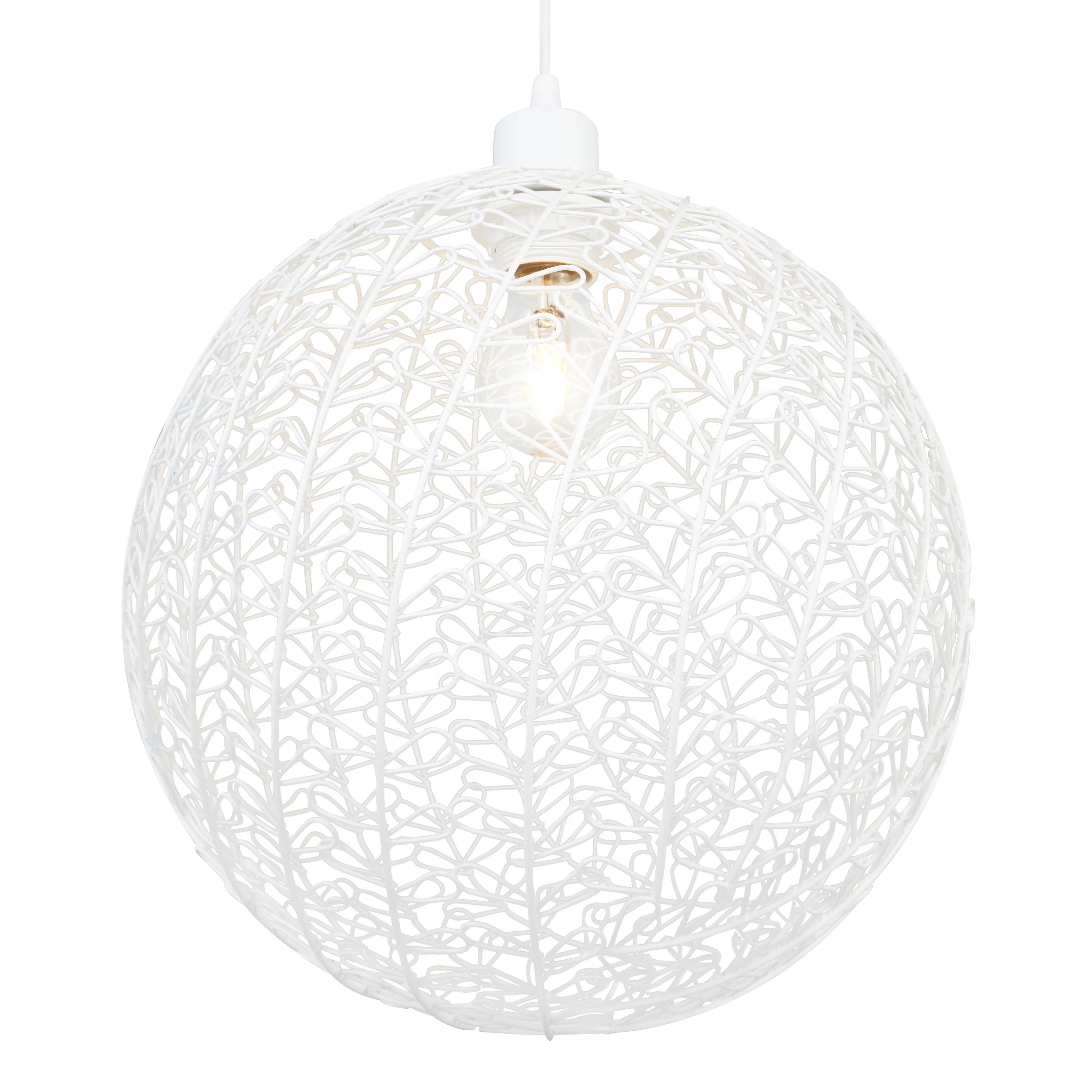 Colours Missoula White Matt Wire Ball Light Shade (D)30cm