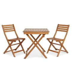 Folding Picnic Chairs B Q Elastic Dining Chair Covers Angelina 3 Piece Bistro Set Wfs1342 Departments Diy