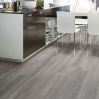 Grey Natural Oak Effect Waterproof Luxury Vinyl Click ...