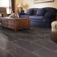 Dark Grey Natural Stone Effect Waterproof Luxury Vinyl ...