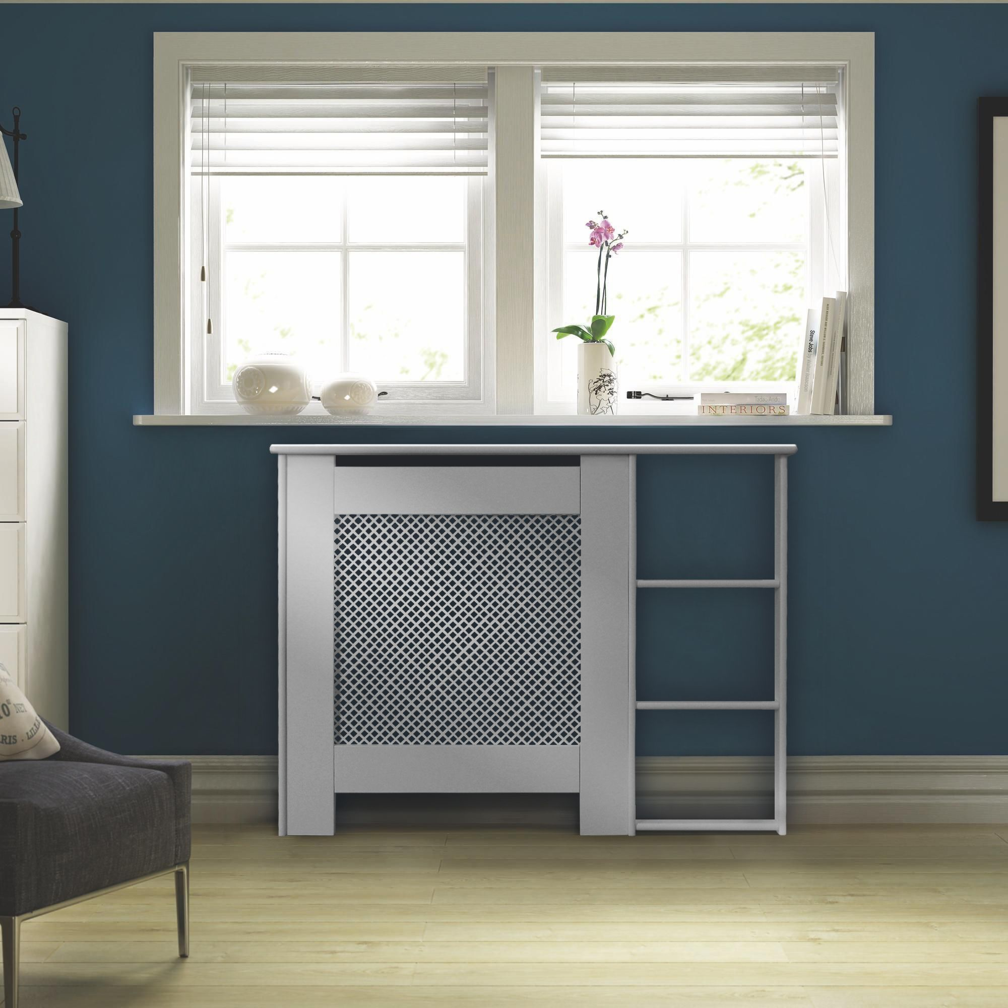 white kitchen appliances cost of renovation mayfair mini painted end shelf radiator cover ...