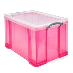 How To Paint Plastic Chairs Acrylic Desk Chair Ikea Really Useful Pink 84l Storage Box   Departments Diy At B&q