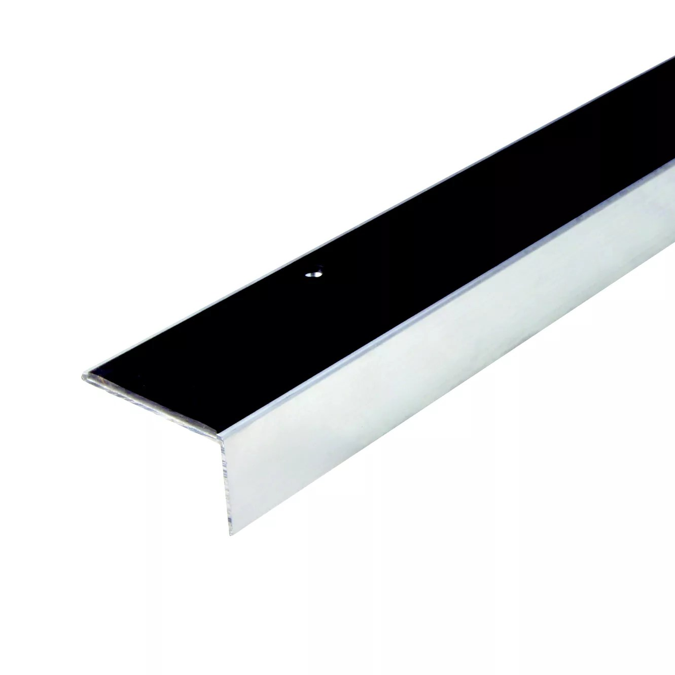 Diall Polished Aluminium  PVC Square Edge Stair Nosing