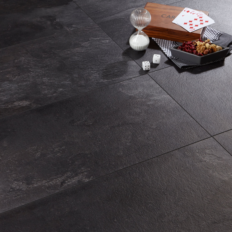 Harmonia Black Slate Effect Laminate Flooring 205 m Pack