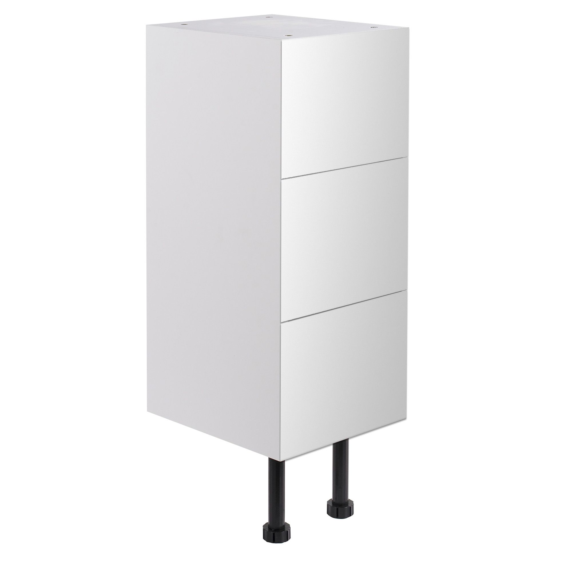 narrow kitchen base cabinet mini appliances cooke and lewis santini gloss white 3 drawer