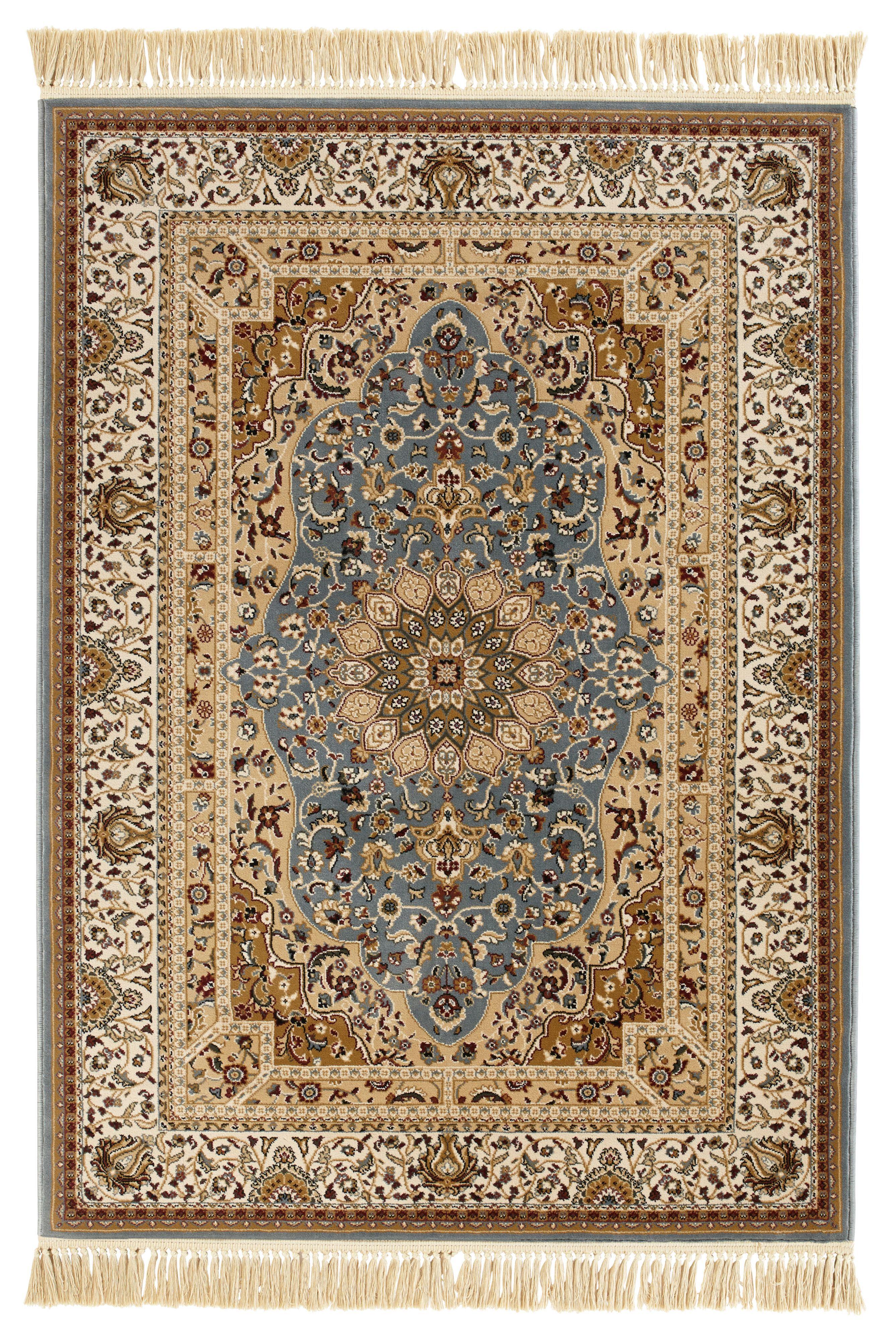 b&q kitchens kitchen appliance stores colours helina beige & blue persian rug (l)2.3m (w)1.6 m ...