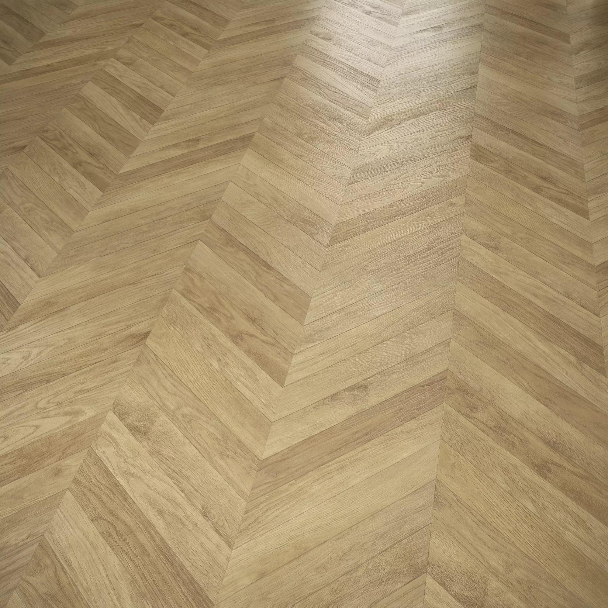 Alessano Natural Herringbone Oak Effect Laminate Flooring