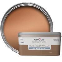 Colours Feature Wall Copper Effect Metallic Emulsion Paint ...