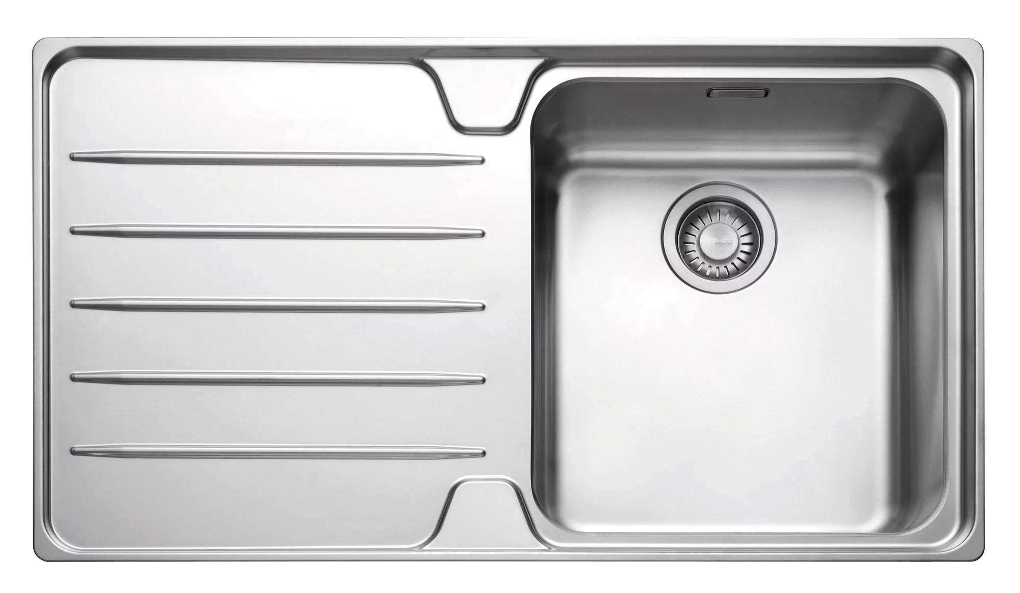 franke kitchen sinks retro table sets laser 1 bowl polished stainless steel single ...