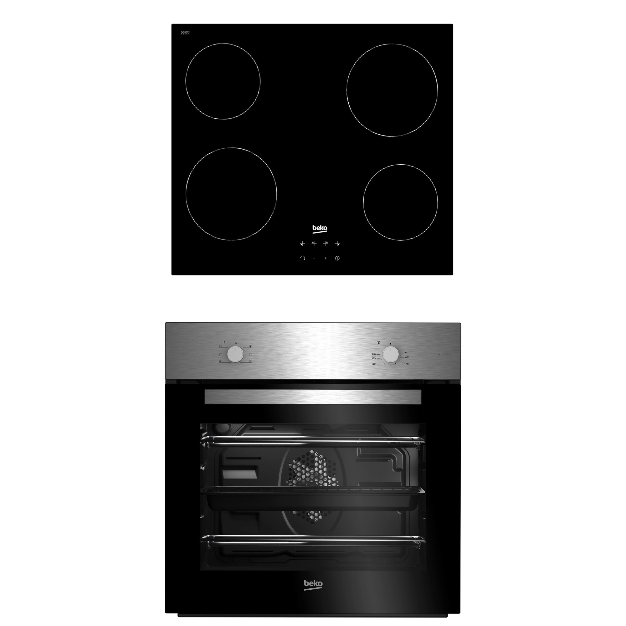 beko oven wiring diagram home entertainment system diagrams qse222x black single multifunction ceramic hob pack departments diy at b q