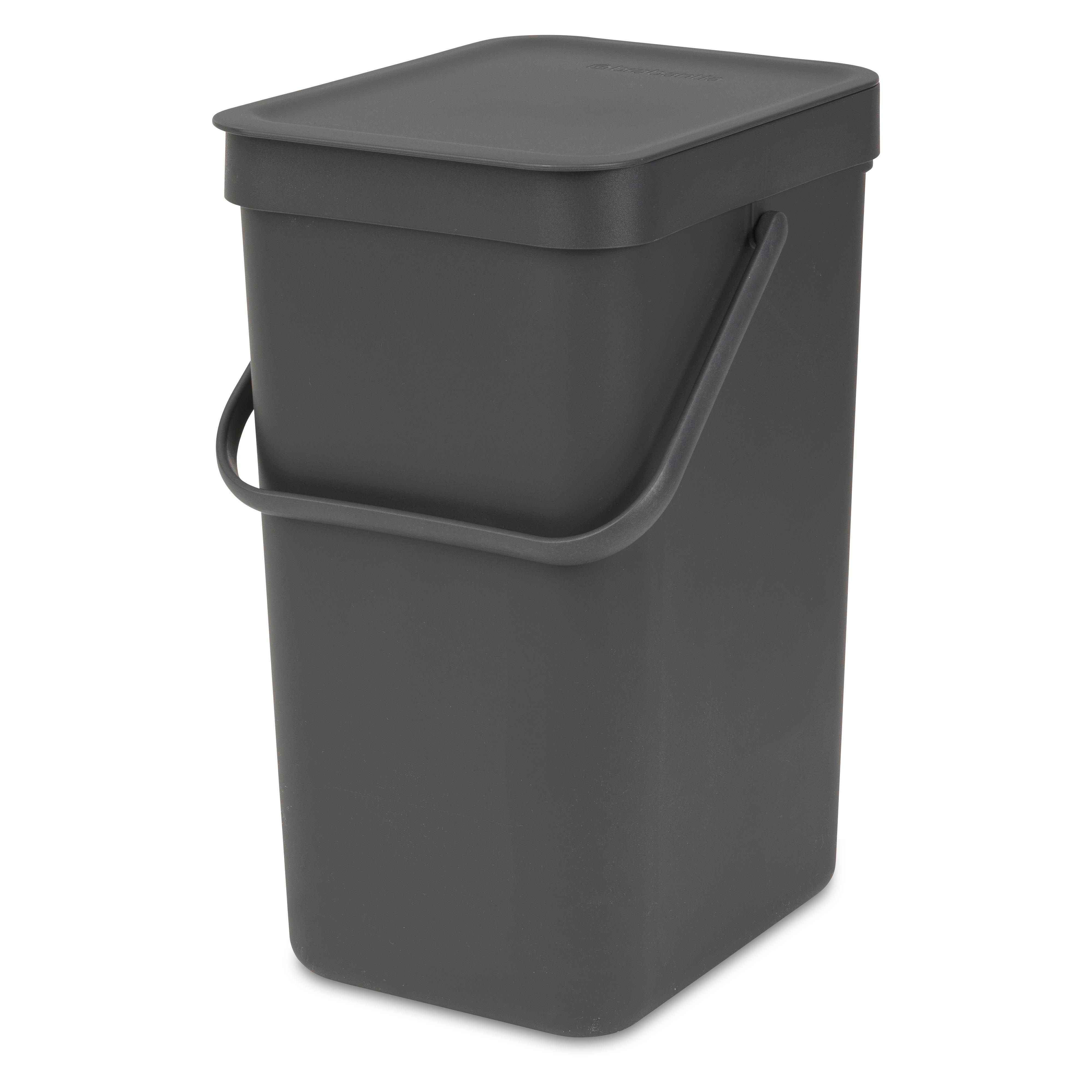 door mounted kitchen garbage can with lid trash bin diy at b andq