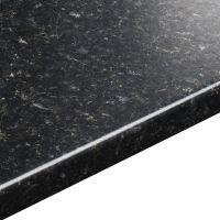 38mm B&Q Avalon Black Textured Round Edge Kitchen Worktop ...