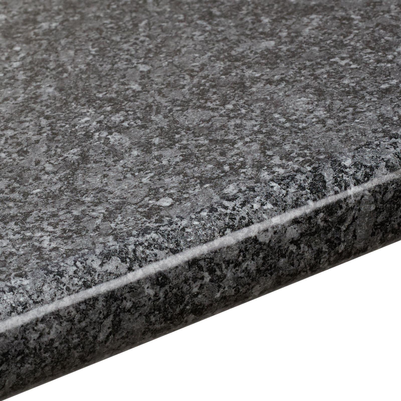 black kitchen appliances victorian cabinets 38mm b&q gloss quartz effect round edge worktop (l ...