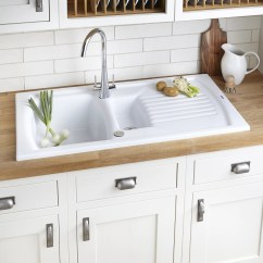Ceramic Kitchen Sink Led Lights Cooke Lewis Lyell 1 5 Bowl Linen Finish Stainless Steel Sinks