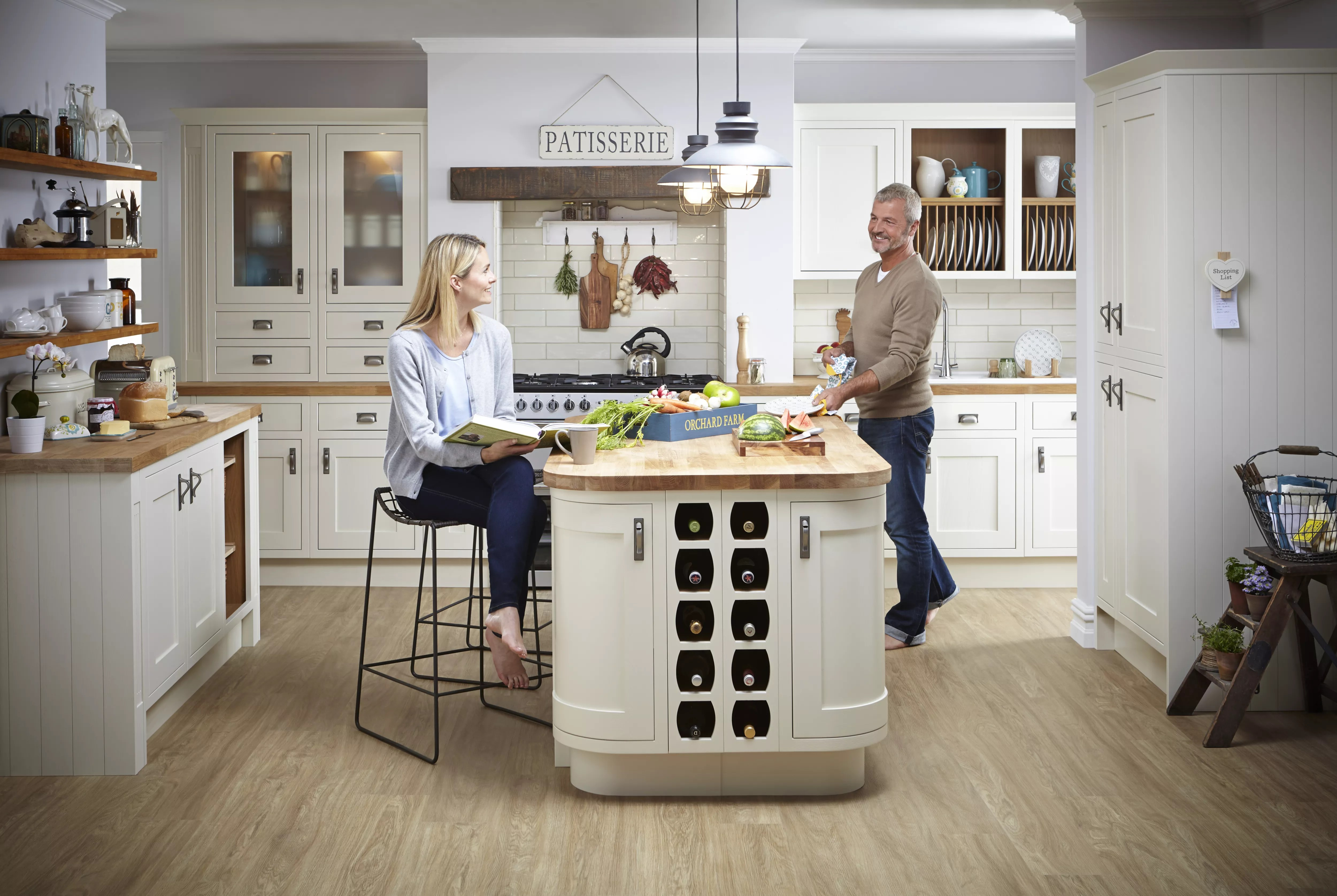 b&q kitchens touchless kitchen faucet cooke lewis carisbrooke ivory framed fitted diy at b q
