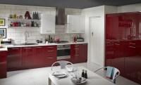 Cooke & Lewis Raffello High Gloss Red Slab | DIY at B&Q
