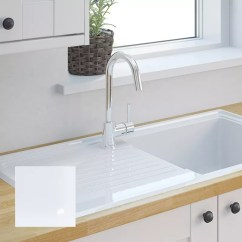 Ceramic Kitchen Sink Window Decoration Ideas Sinks