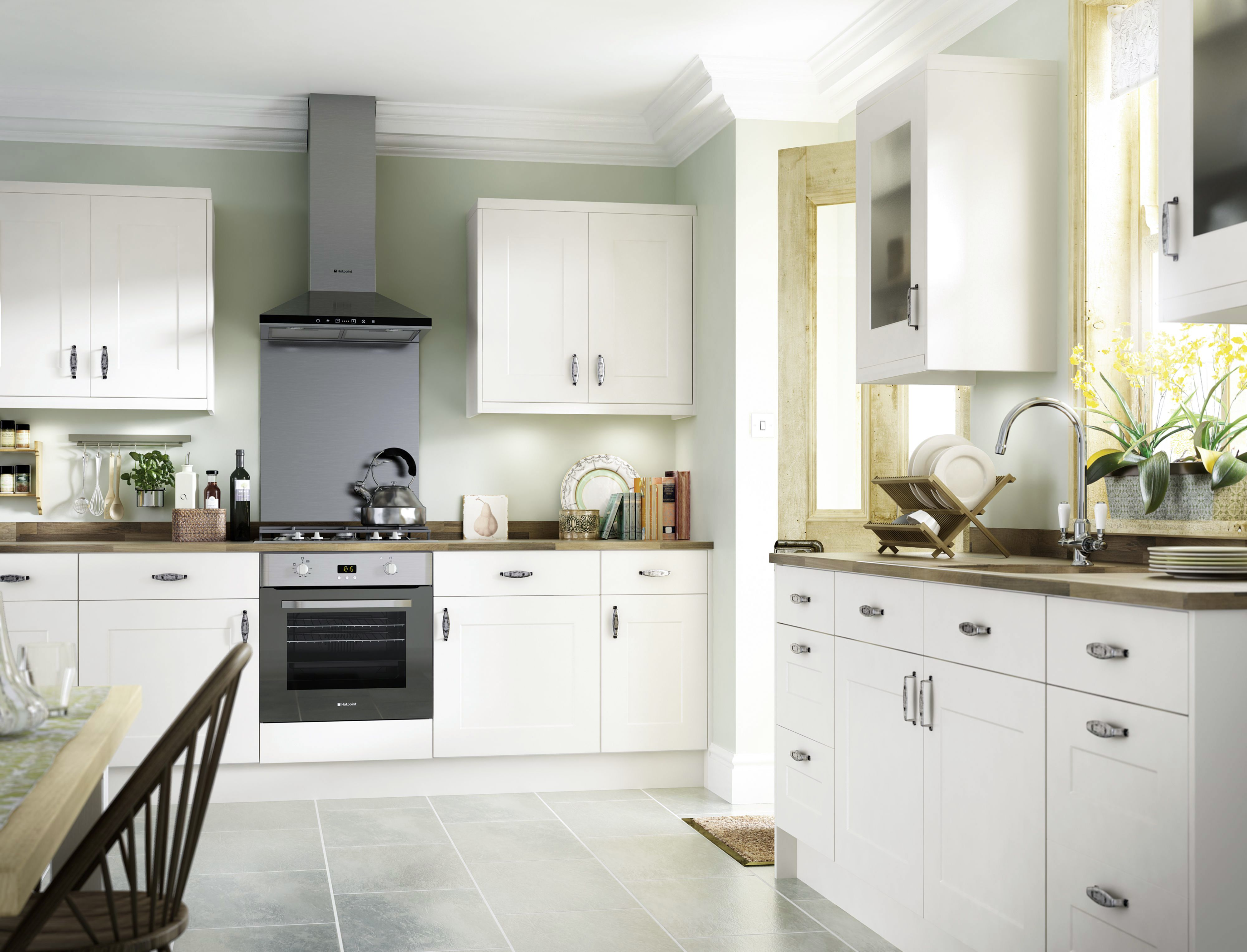 b&q kitchens axor kitchen faucet it stonefield ivory classic style fitted diy at b q