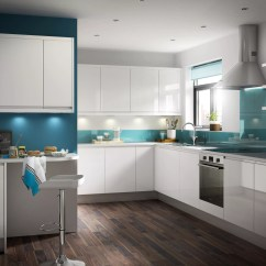 B&q Kitchens Kitchen Knifes It Marletti White Gloss With Integrated Handle Fitted