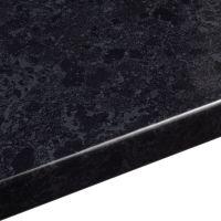 38mm B&Q Midnight Granite Gloss Black Gloss Granite Effect ...