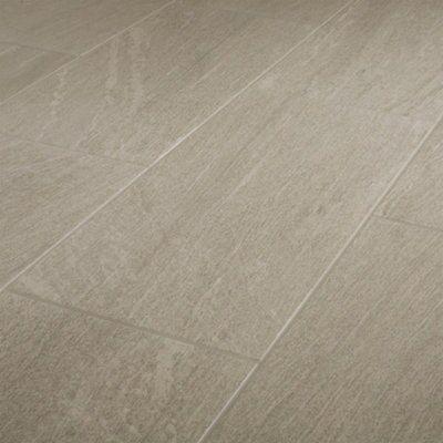 natural greige satin stone effect porcelain floor floor tile sample