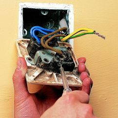 Double Dimmer Switch Wiring Diagram Uk 277 Volt Ballast How To Fit Replace Electric Sockets Ideas Advice Diy At B Q Step 1