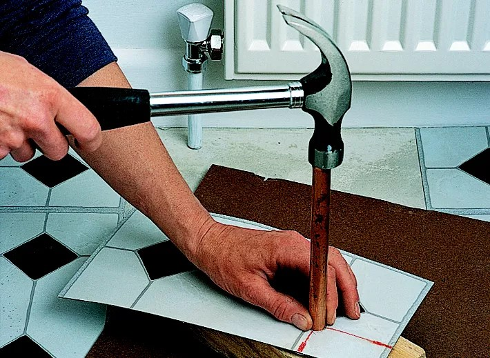 How To Cut Vinyl Planks Around Pipes