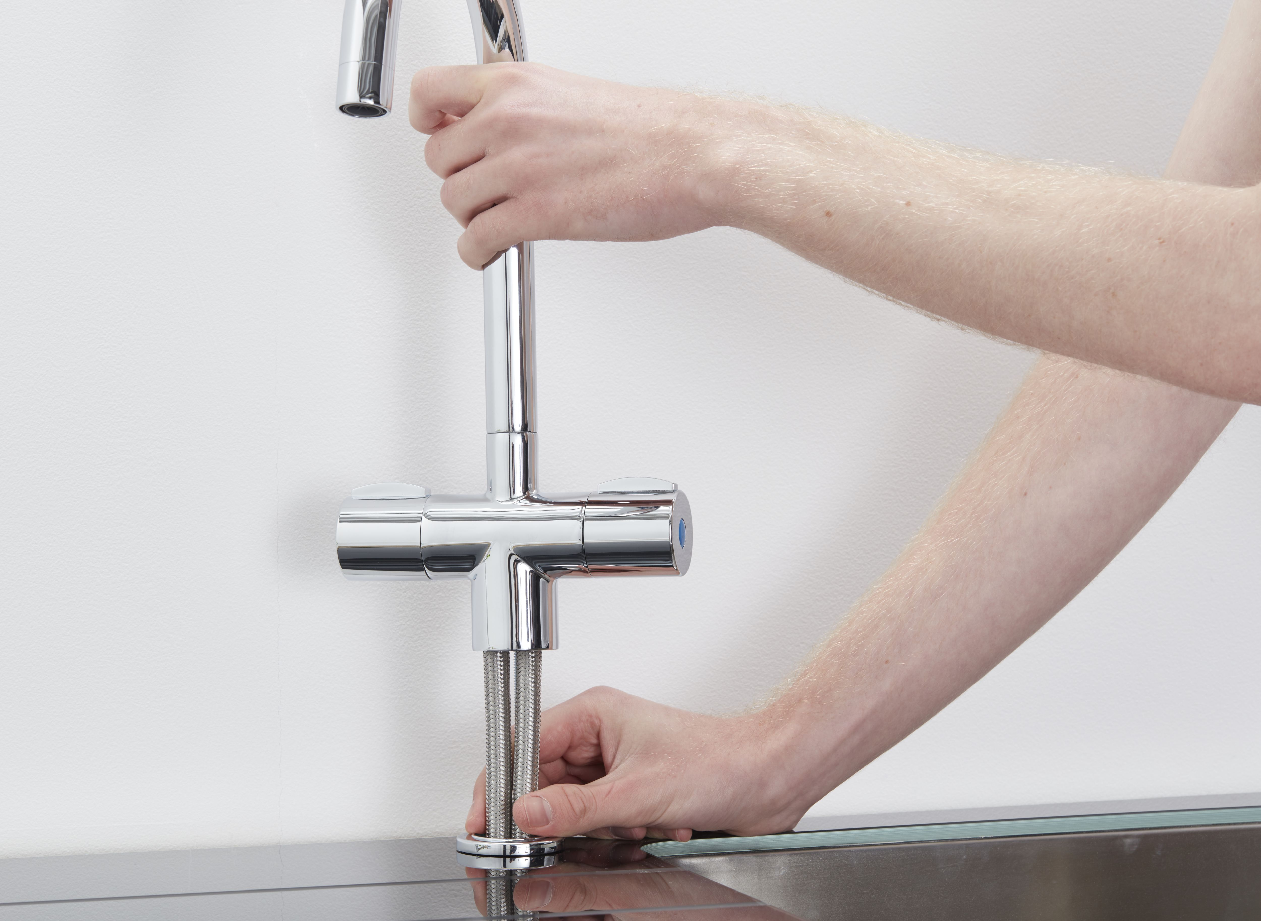 kitchen tap corner sink cabinet taps mixer how to remove fit a