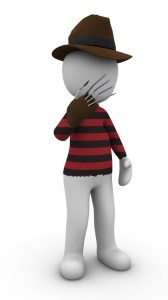 Freddy Krueger with hat and glove