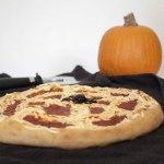 Spider Web Halloween Pizza