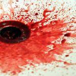 Homemade fake blood in sink