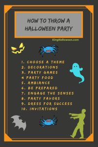 How to Throw a Halloween Party Infographic