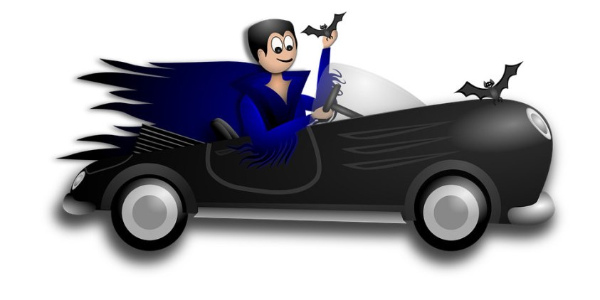 Vampire Car Halloween Jokes for Kids