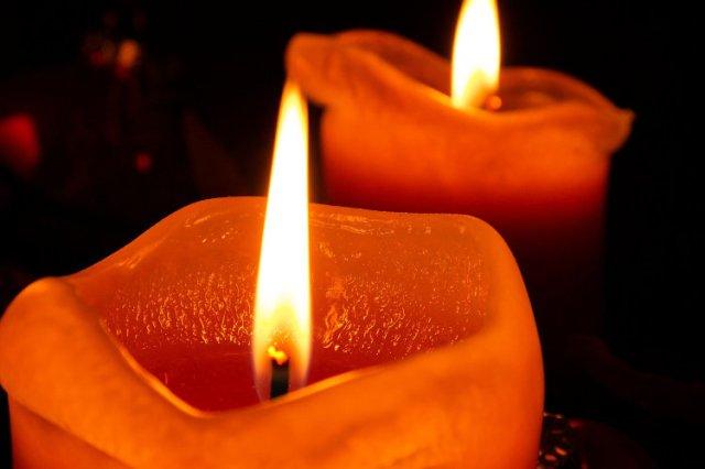 Burn Orange Candle Halloween Superstitions