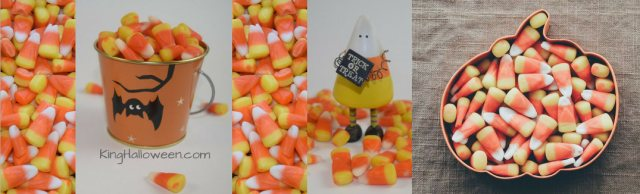 Candy Corn Symbolism Candies with bucket, ghost and pumpkin