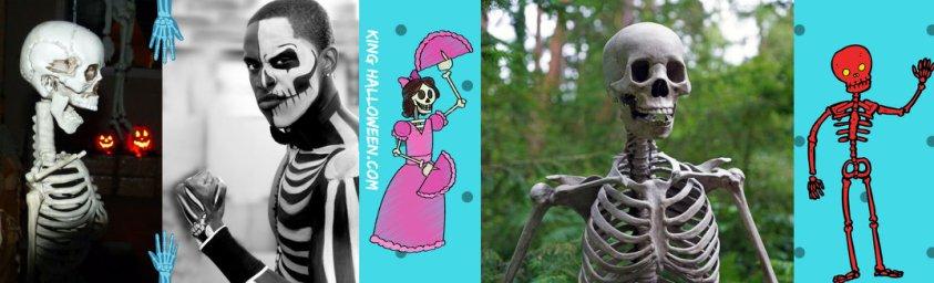 Skeleton Halloween Symbols