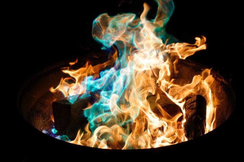 blue flame fire Halloween myth